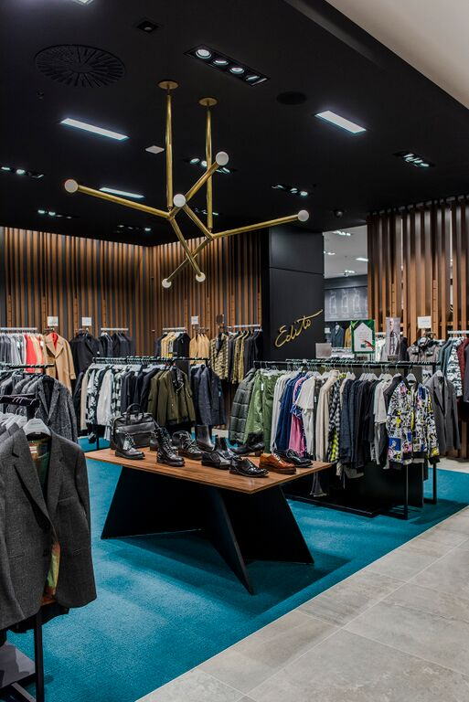 Men's designer 'Edito' department.  Photo: Simons, via Modern Mix Vancouver