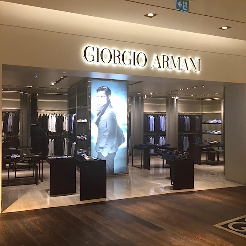 New Giorgio Armani shop