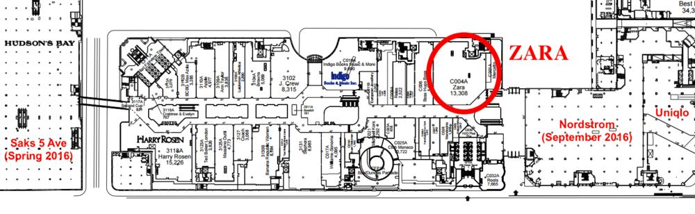 Zara on Nordstrom Store Floor Plan