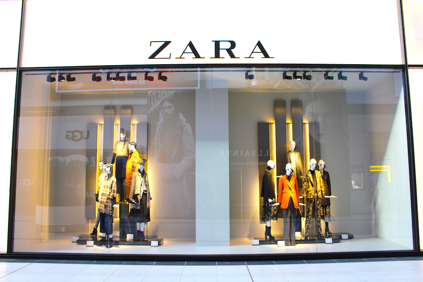 Window display at the new Zara CF Toronto Eaton Centre. Photo supplied