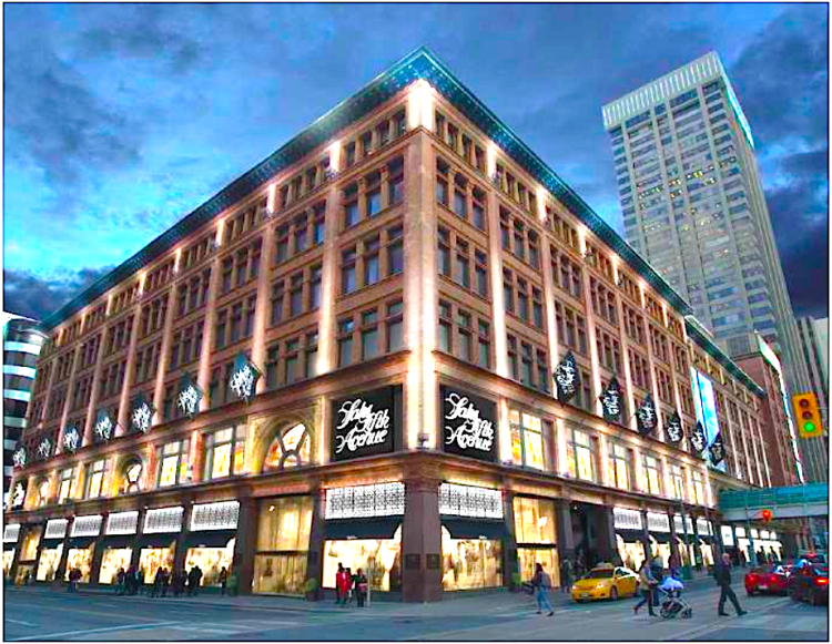 Saks Canada Flagship. Rendering - Hudson's Bay Co.