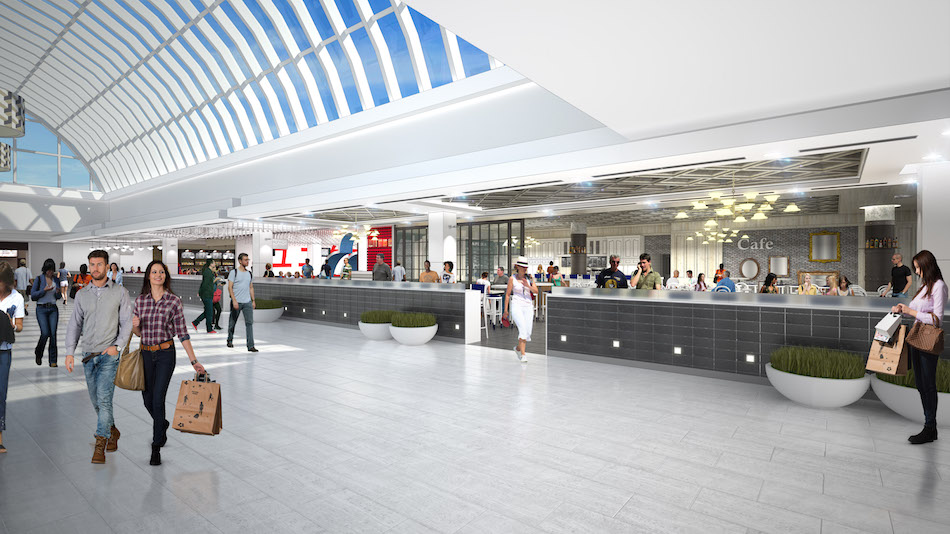 Scarborough Town Centre food court rendering, courtesy of Oxford Properties.