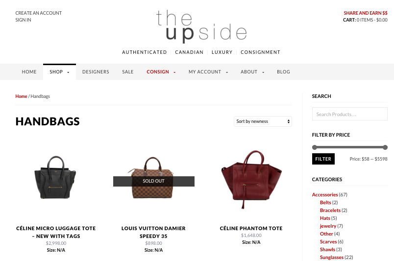 b9d3a8091a57ff Last week, Canada's largest online luxury retail boutique launched,  featuring over 250 premium designer brands. Named The Upside  (www.the-upside.ca), ...