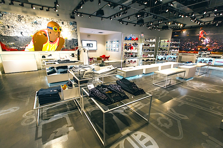 Inside the Chicago store. Photo: Nike