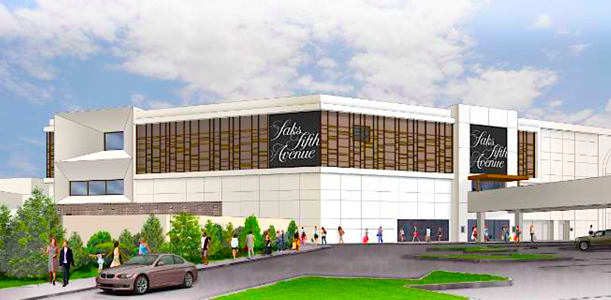 Sherway rendering: Saks Fifth Avenue