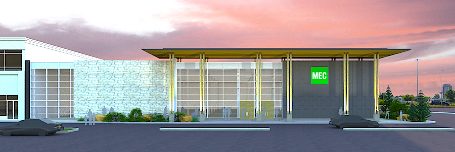 Rendering of the new Laval store, via MEC