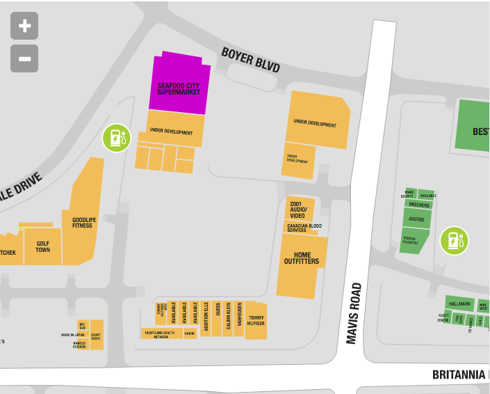 36,000 square foot Seafood City at Heartland Town Centre. Click image for interactive centre map