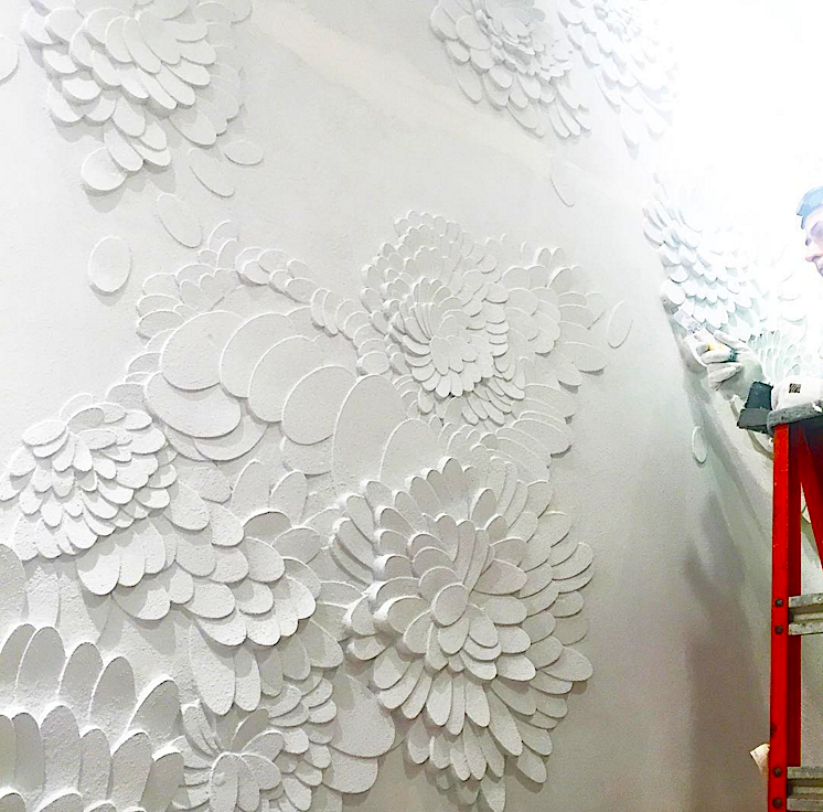 Queen Street Saks wall treatment. Photo: Saks via Instagram