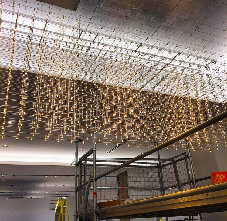 Saks Sherway lighting. Photo: Saks via Instagram