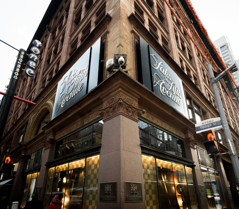 A Louis Vuitton boutique anchors the Yonge & Queen W. intersection. Photo: Saks