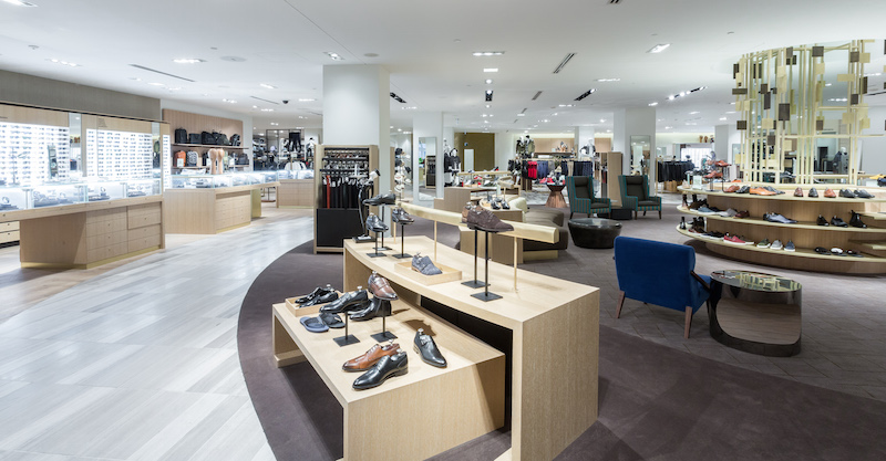 Men's store, footwear on 2. Photo: Saks