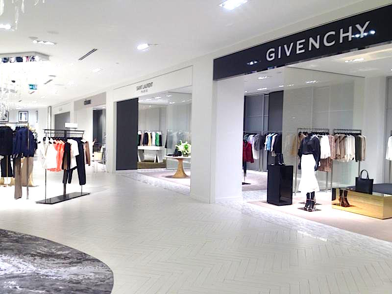 Women's designer boutiques line the third floor. Photo: Retail Insider