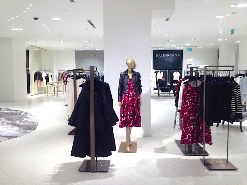 Valentino and Balenciaga shops on 3. Photo: Retail Insider
