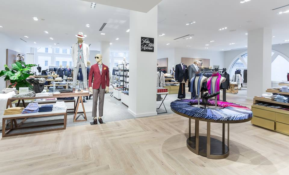 Men's store on 2. Photo: Saks