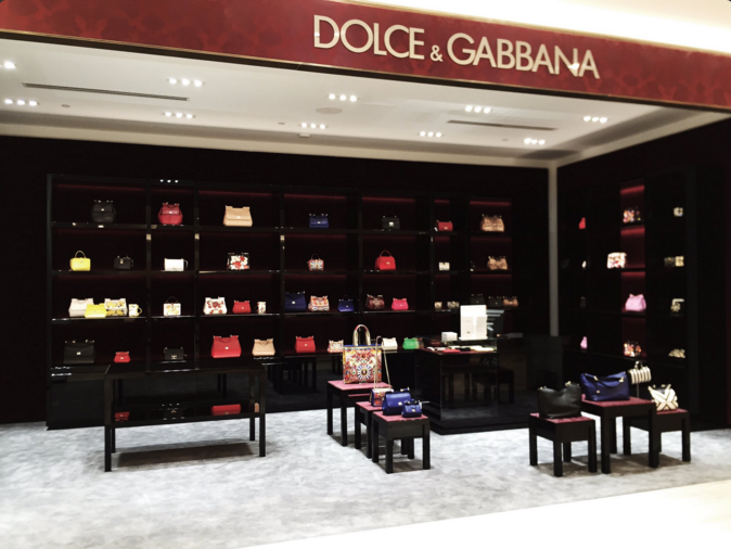 Dolce & Gabbana women's accessory shop-in-store, ground floor. Photo: Alexander Liang