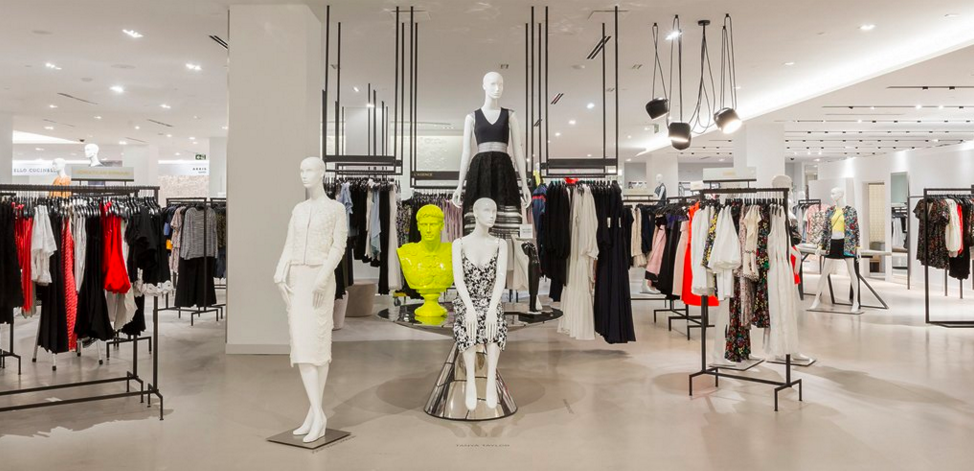 Women's contemporary. The Queen Street flagship features the same neon yellow Mozart bust. Photo: Saks