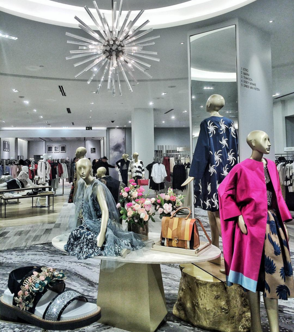 Women's designer department, featuring Etro, Marni, Thakoon, Dries Van Noten. Photo: Saks