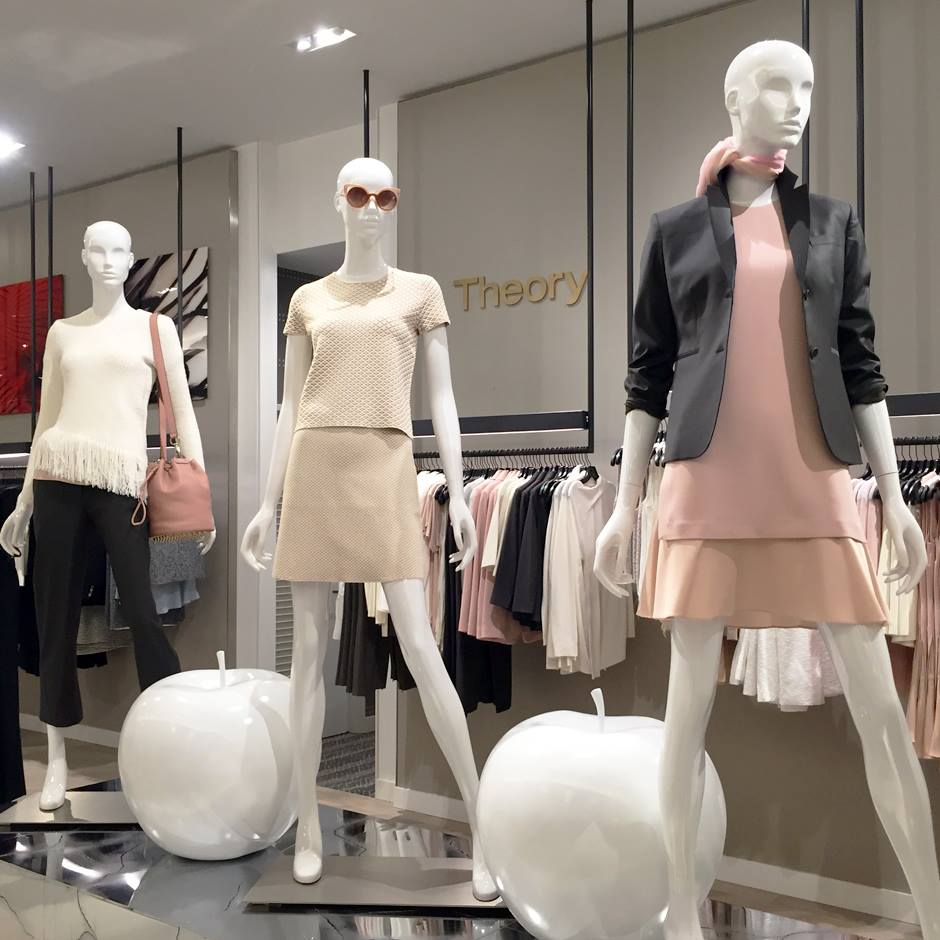 Women's contemporary department, featuring popular brand Theory. Photo: CF Sherway Gardens