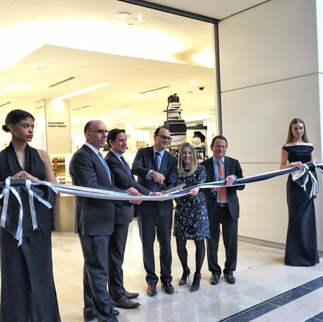 Ribbon cutting on Thursday, February 25. Photo: Saks