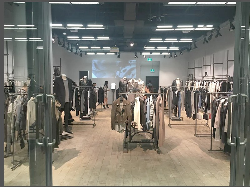 Inside the Toronto Eaton Centre store. Photo: AllSaints