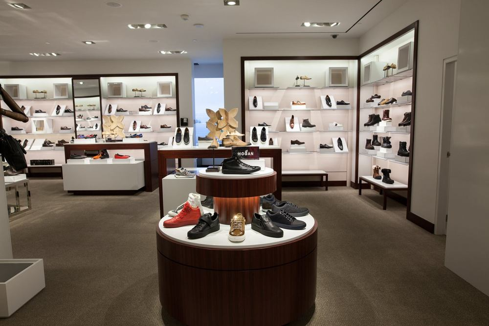 Men's footwear department. Photo: Harry Rosen