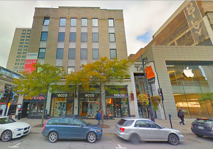 1325 and 1327-1333 Saint Catherine Street West. Photo: Google Street View.