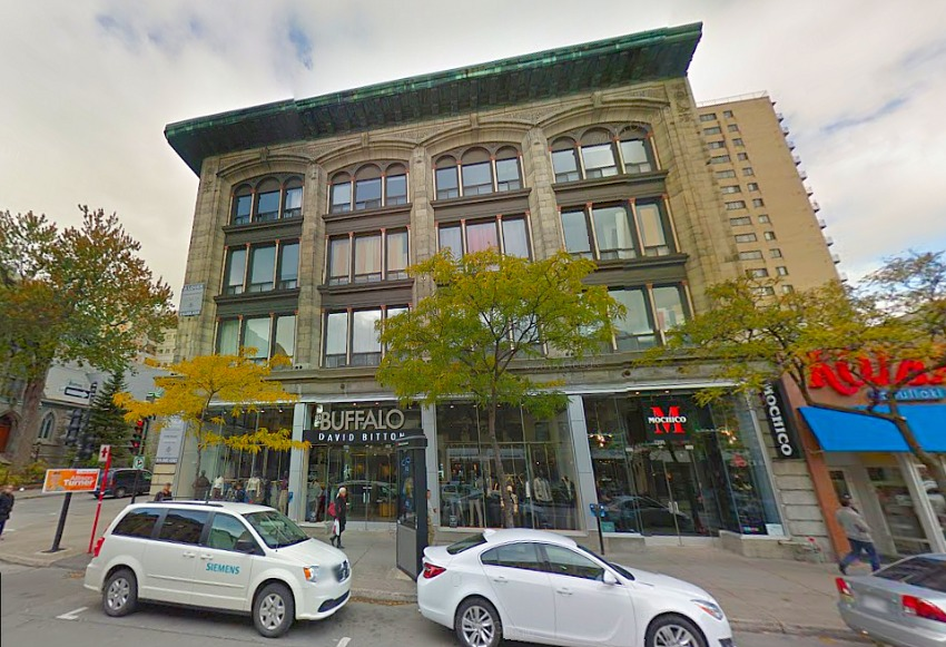 1391-1397 Saint Catherine Street West. Photo: Google Street View.