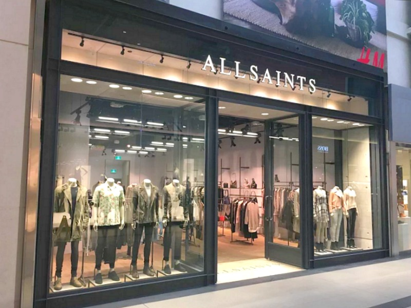 At CF Toronto Eaton Centre. Photo: AllSaints