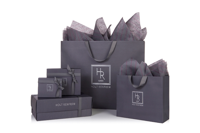 Holt Renfrew Men packaging. Photo: Holt Renfrew