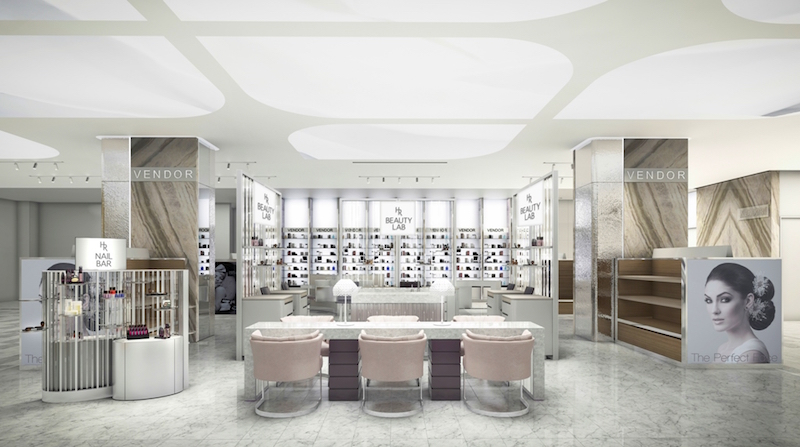 Expanded beauty hall. Rendering: Holt Renfrew
