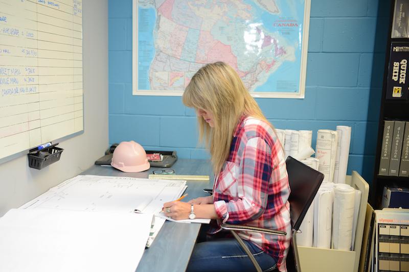 Ms. Eden working.