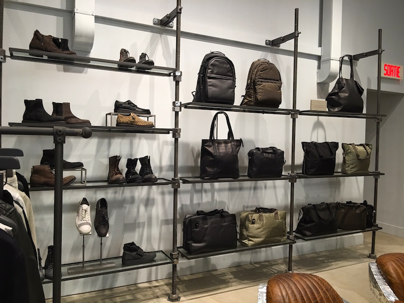 Men's footwear and bags. Photo: Maxime Frechette.