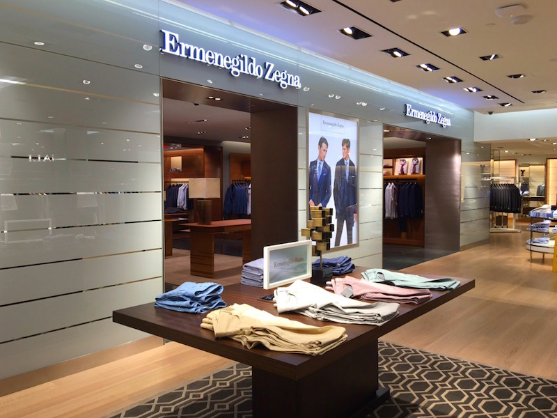 Beautiful Zegna shop-in-store. Photo:  Maxime Frechette .