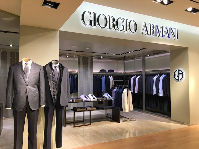 Giorgio Armani shop-in-store. Photo:  Maxime Frechette .