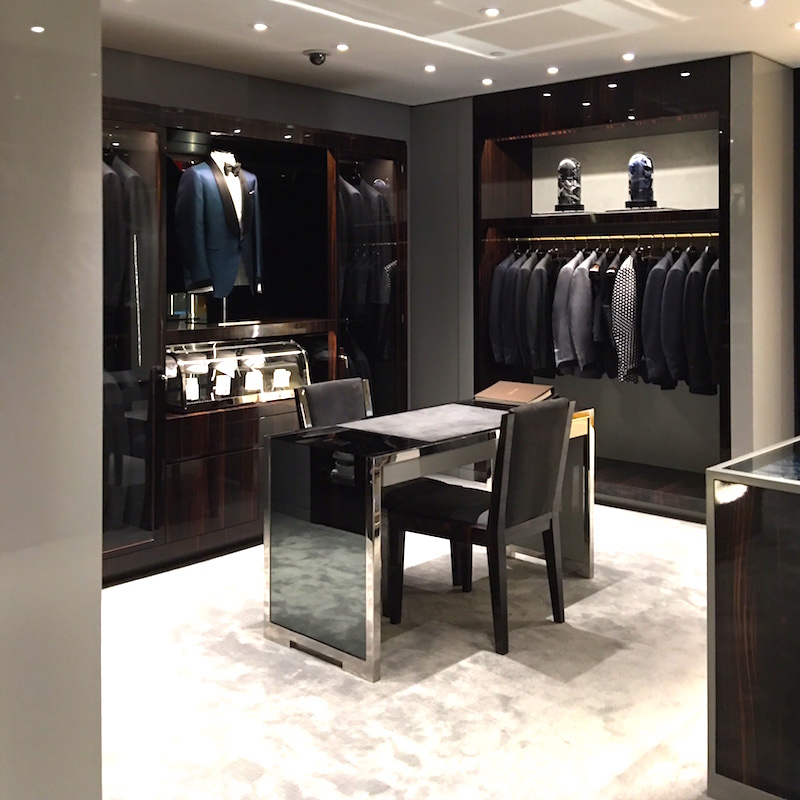 Inside the Tom Ford shop. Photo:  Maxime Frechette .