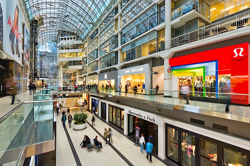 CF Toronto Eaton Centre. Photo: Cadillac Fairview