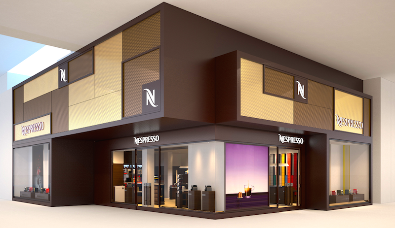 Rendering of the Yorkdale store which opened in September of 2015, via Nespresso