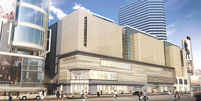 CF Eaton Centre flagship rendering, provided by Nordstrom.