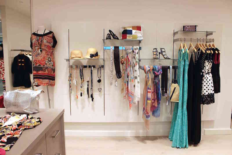 Clothing, accessories and footwear at the Yorkville Village Store. Photo: Idea Workshop
