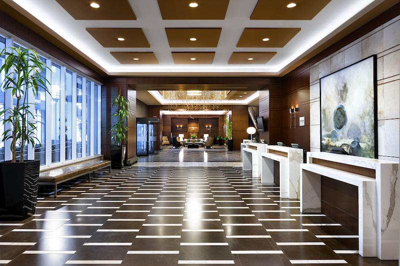 Stunning lobby at Le Westin Montréal. Photo:Le Westin Montréal