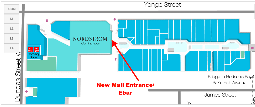 Click above for interactive CF Toronto Eaton Centre map.