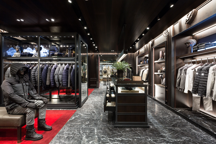 Inside Vancouver's Moncler store, which opened in December of 2015. Photo provided by Moncler.