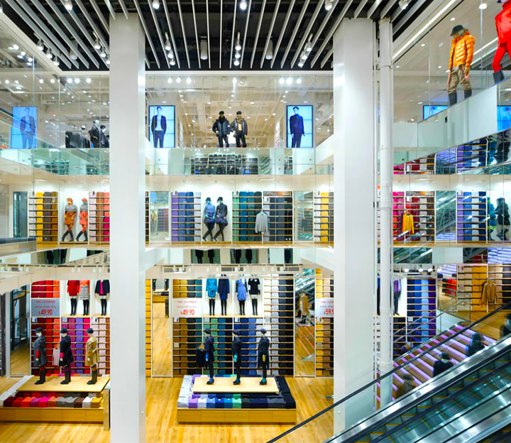 Uniqlo store in New York City. Photo: retaildesignblog.net