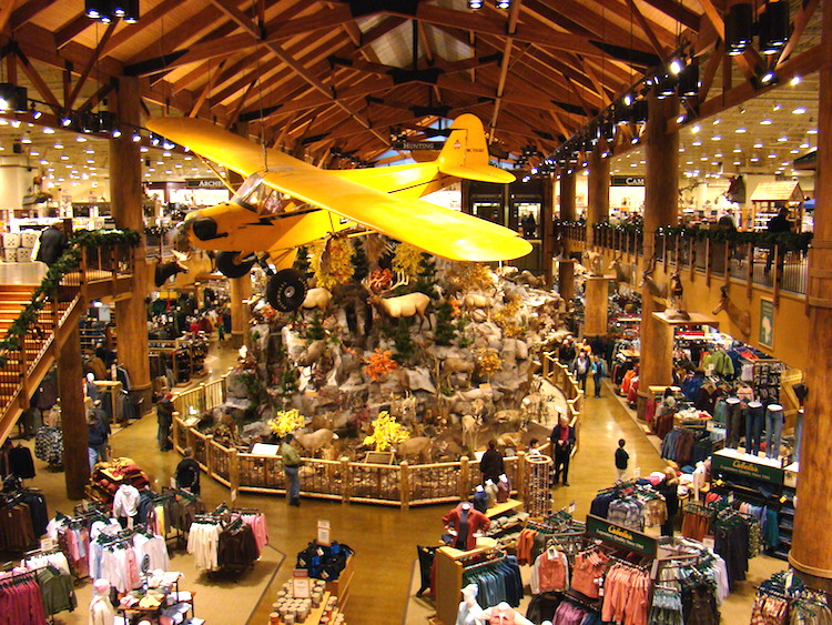 Inside a Cabela's store. Photo via Wikipedia