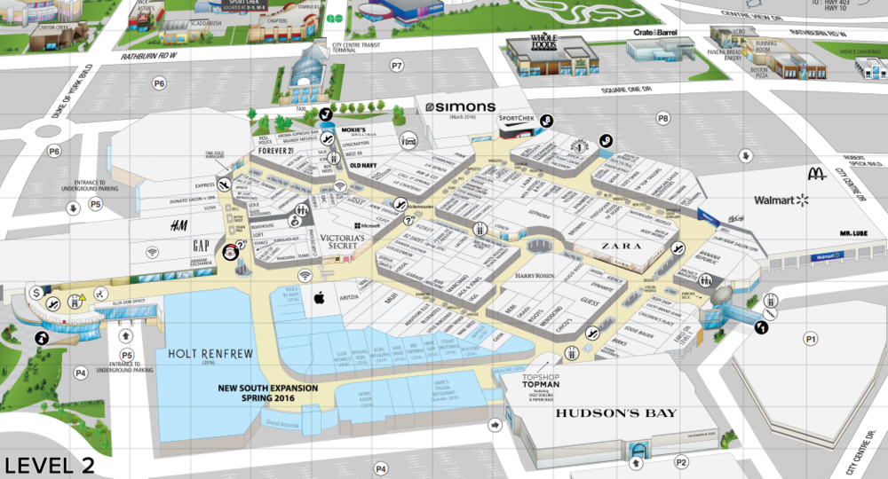 Click for larger map, via Square One website.