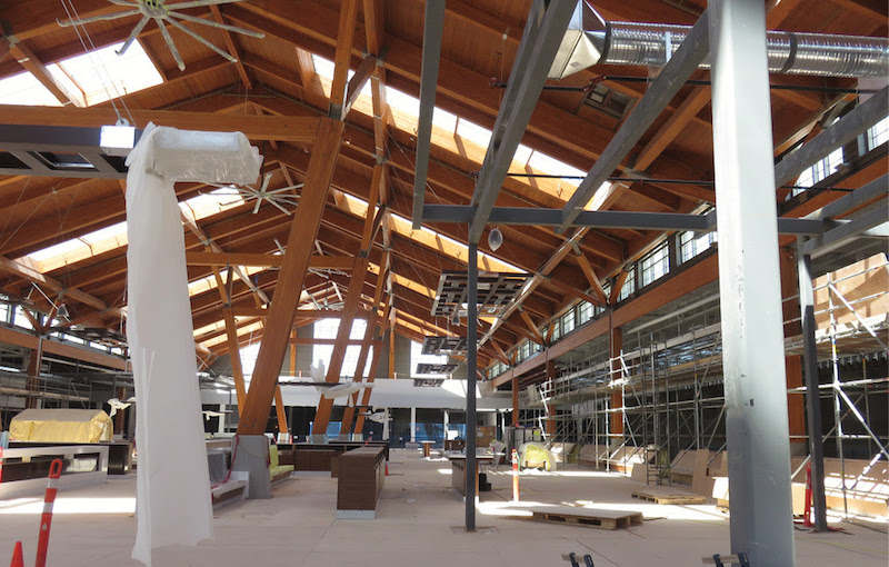 1,100 seat food hall taking shape.
