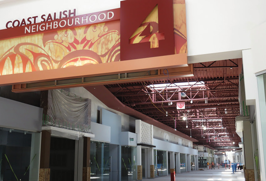 The 'Coast Salish Neighbourhood' will be one of several distinct areas in the shopping centre.