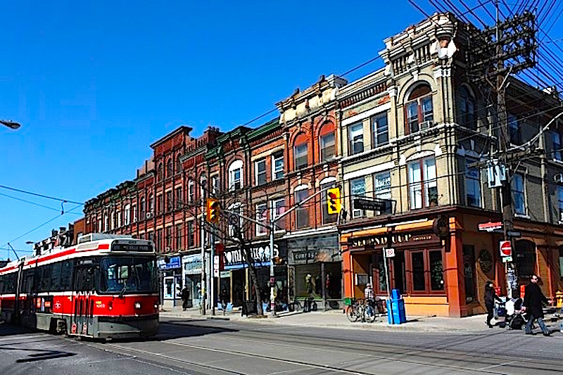 Toronto's Queen Street West Has some Beautiful Historial Architecture. Photo:  condo.ca