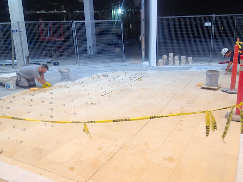 New flooring will be the same as in the rest of the mall.