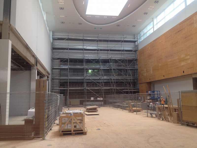 Looking towards Nordstrom's new mall entrance, with Canada Goose to the right.